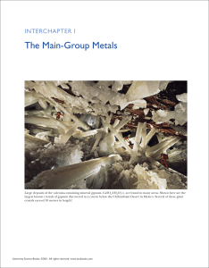 the Main-Group Metals - McQuarrie General Chemistry