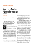 Meet Larry Riddles: A Doctor for Disasters