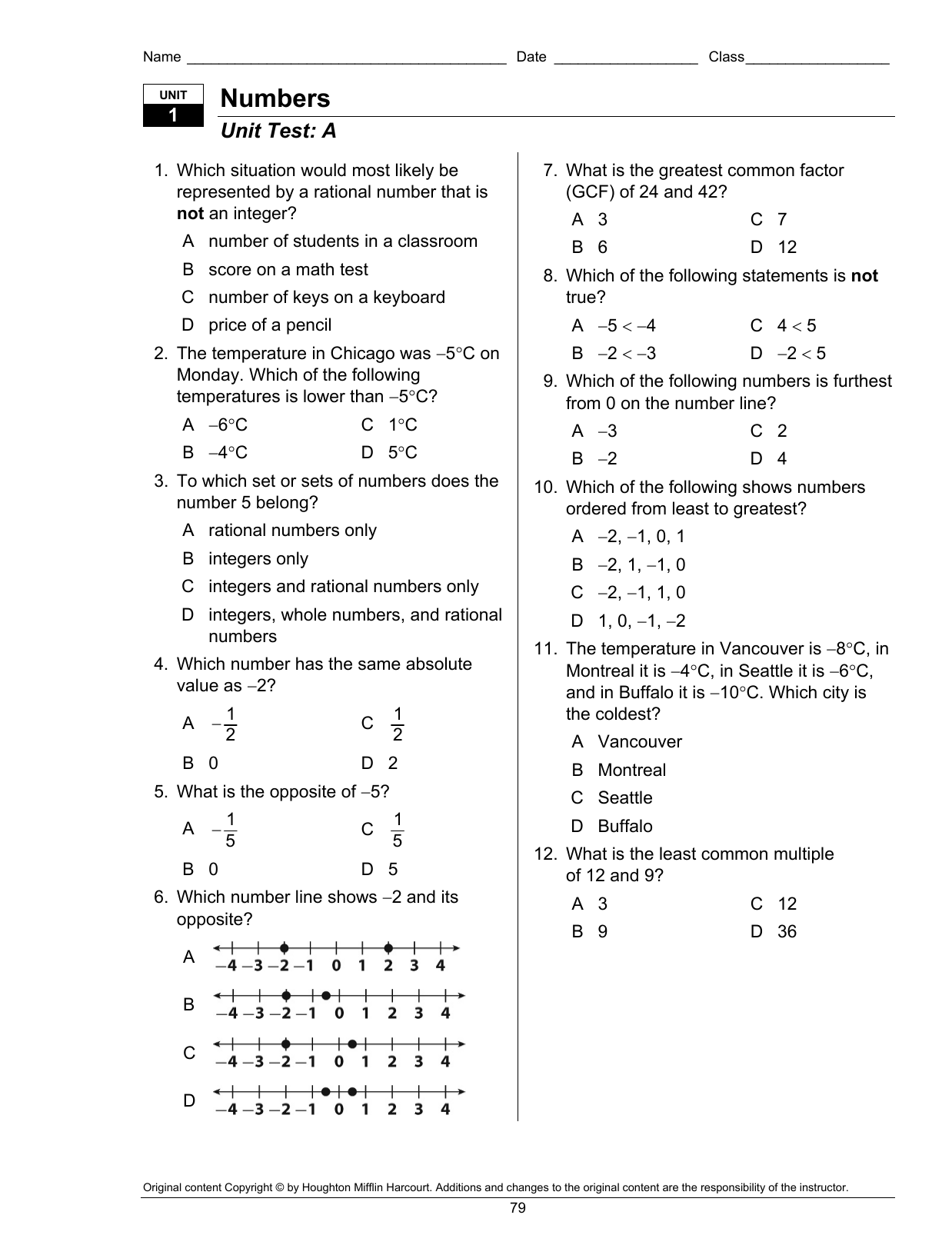 Unit 3 Expressions Equations And Inequalities Test B Answer
