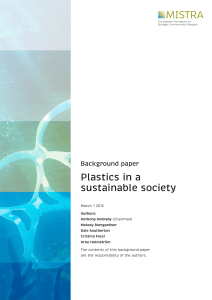 Plastics in a sustainable society