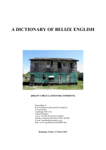 Belizean English dictionary