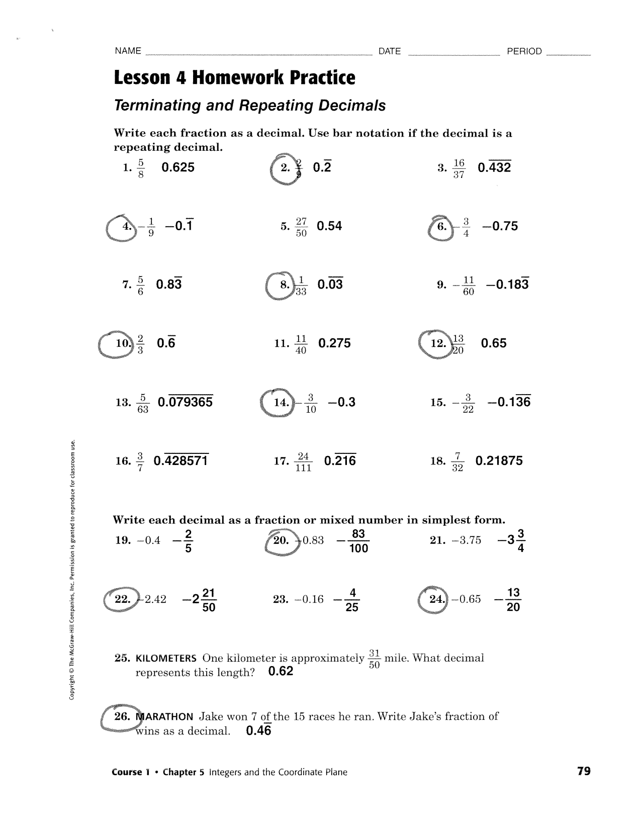 worksheet Terminating And Repeating Decimals Worksheet 013356301 1 4f31628607571236e62534cde36b8162 png