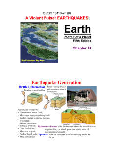 Earthquake Generation