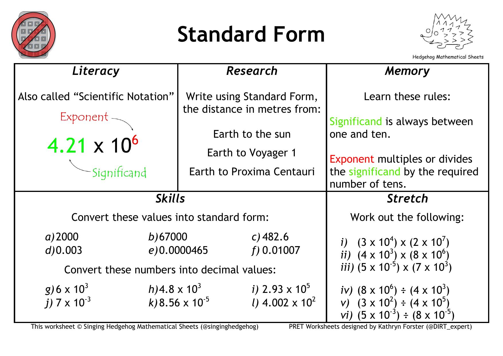 Standard form pret homework falaconquin