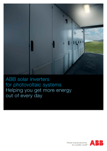 ABB solar inverters for photovoltaic systems