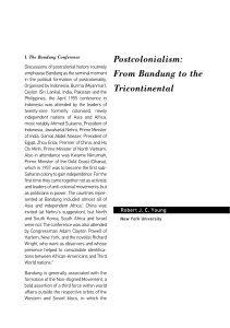 Postcolonialism: From Bandung to the Tricontinental