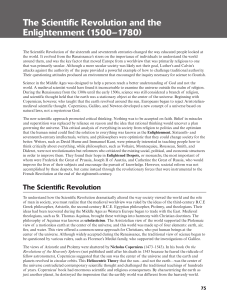 The Scientific Revolution and the Enlightenment (1500–1780)