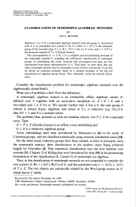 CLASSIFICATION OF SEMISIMPLE ALGEBRAIC MONOIDS