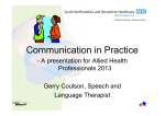 Communication in Practice