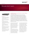 Brocade 6520 Switch - Datasheet