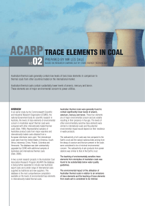 Trace Elements in Coal