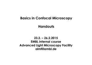 Basics in Confocal Microscopy Handouts