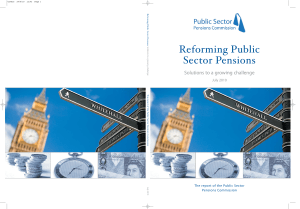 Public Sector Pensions - Institute of Economic Affairs