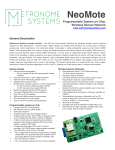 NeoMote Data Sheet - Metronome Systems