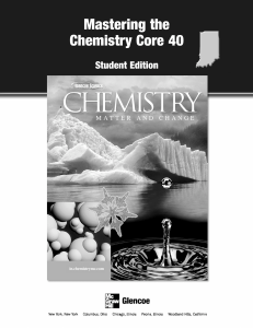 Mastering the Chemistry Core 40