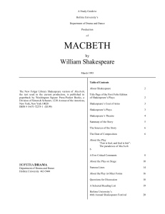 macbeth - Hofstra University