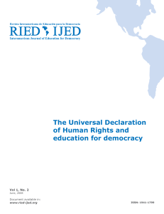 The Universal Declaration of Human Rights and education for