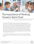 The Importance of Working Toward a Sprint Goal The Importance of