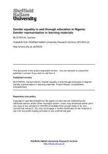 Gender equality in and through education in Nigeria