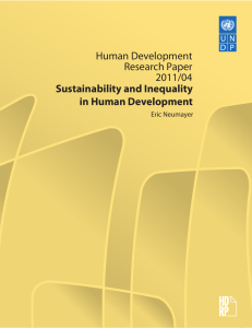Sustainability and Inequality in Human Development