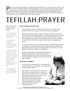 TEFILLAH:PRAYER