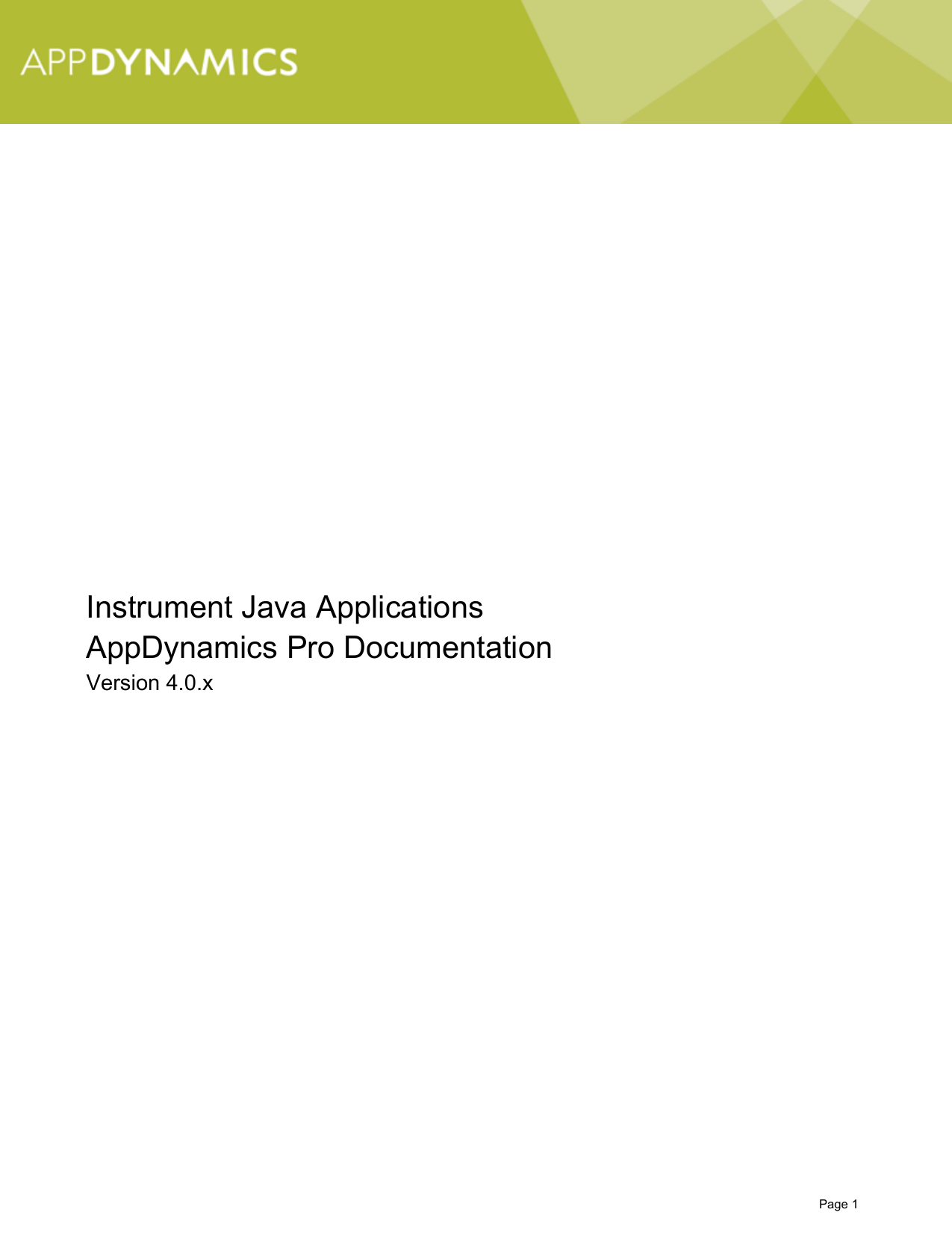 Instrument Java Applications AppDynamics Pro Documentation