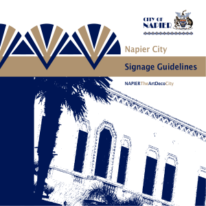 Signage Guidelines - Napier City Council