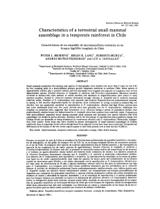 Characteristics of a terrestrial small mammal assemblage in a