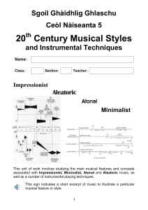 N5 20th Century and Instrumental Techniques