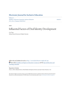 Influential Factors of Deaf Identity Development