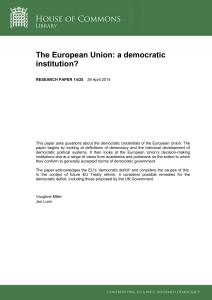 The European Union: a democratic institution?