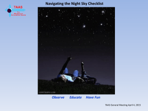 Navigating the Night Sky Checklist
