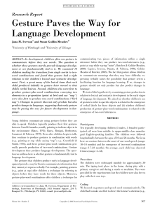 Gesture Paves the Way for Language Development