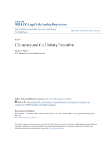 Clemency and the Unitary Executive