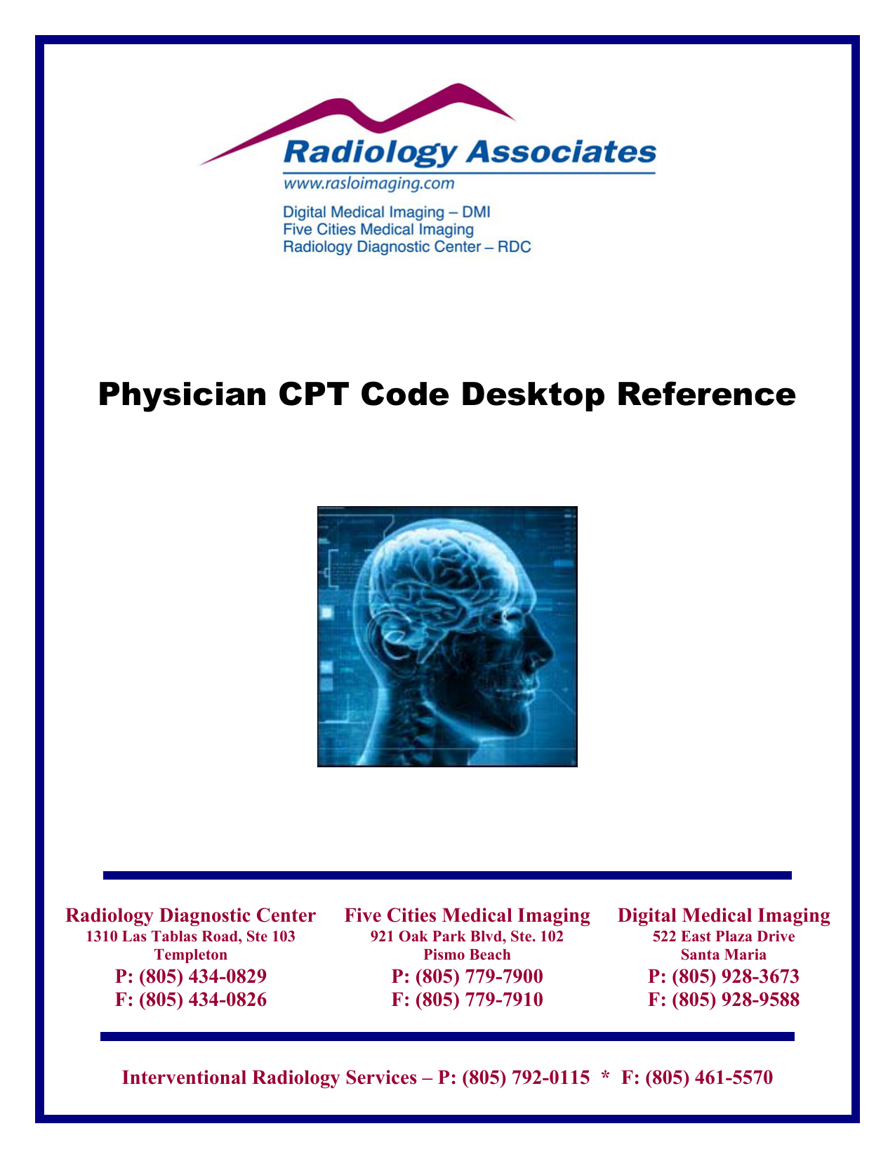 Physician CPT Code Desktop Reference