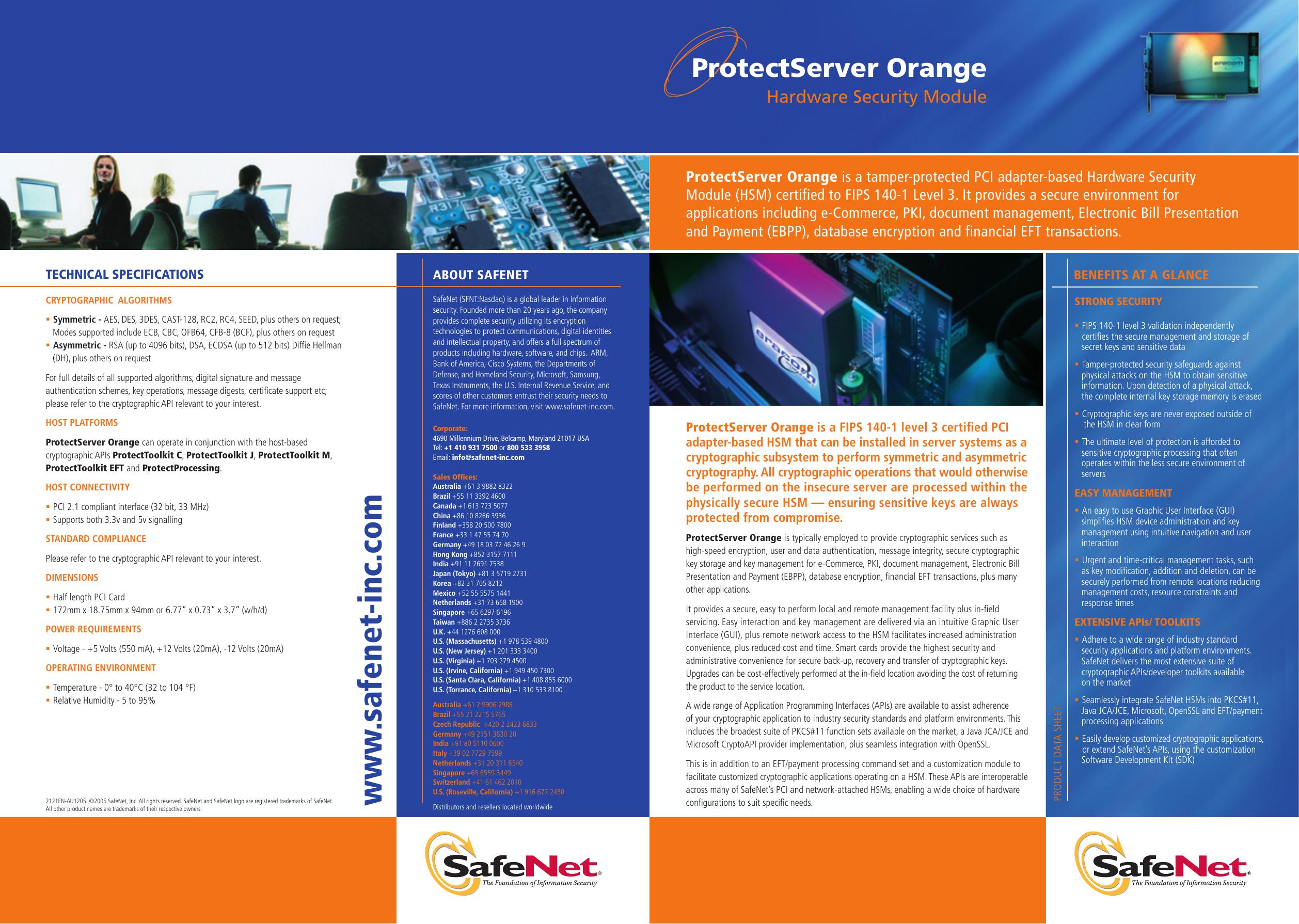 ProtectServer Orange - SafeNet and Gemalto Merger