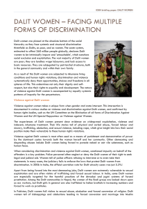 IDSN Briefing Paper on Dalit Women - International Dalit Solidarity