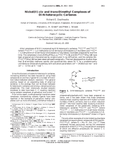 Nickel(II) cis- and trans-Dimethyl Complexes of