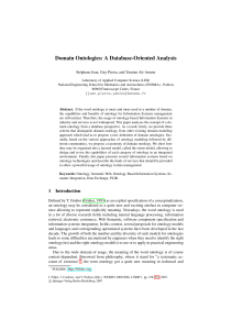 Domain Ontologies: A Database-Oriented Analysis