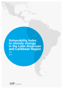 Vulnerability Index to climate change in the Latin