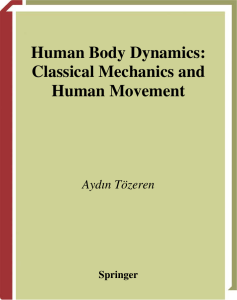 Classical Mechanics and Human Movement
