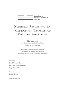 Nonlinear Reconstruction Methods for Transmission Electron