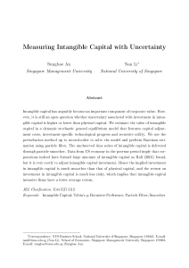 Measuring Intangible Capital with Uncertainty