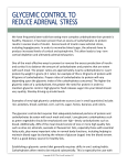 GLYCEMIC CONTROL TO REDUCE ADRENAL STRESS
