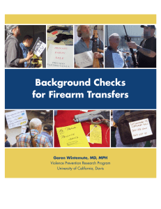 Background Checks for Firearm Transfers