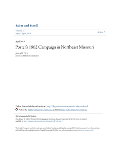 Porter`s 1862 Campaign in Northeast Missouri