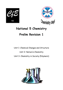 National 5 Chemistry Prelim Revision 1
