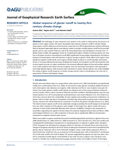 Global response of glacier runoff to twentyfirst century climate change