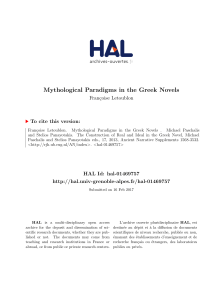 Mythological Paradigms in the Greek Novels