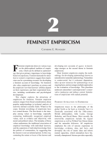 feminist empiricism - University of Windsor